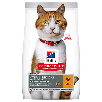 SCIENCE PLAN HILL'S CAT STERILISED YOUNG POLLO 1,5Kg