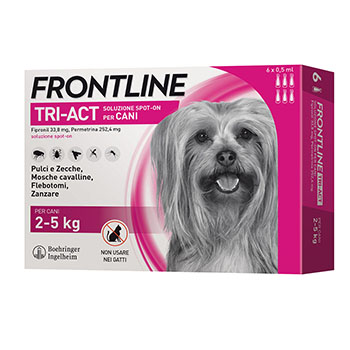 FRONTLINE TRI-ACT CANE 2/5Kg 6 PIPETTE