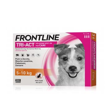 FRONTLINE TRI-ACT CANE 5/10Kg 3 PIPETTE