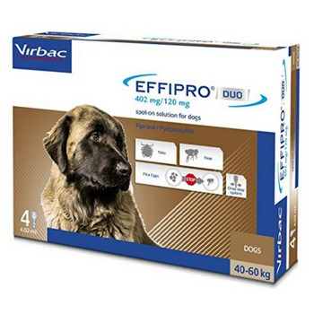 VIRBAC EFFIPRO DUO CANE 4 PIP XL