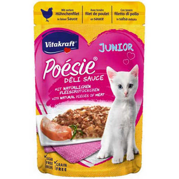 VITAKRAFT CAT  POESIE DELI SAUCE + POLLO JUNIOR BUSTA  85G