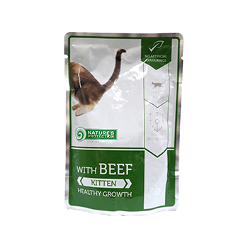 NATURE'S PROTECTION KITTEN COMPLETE PET FOOD FOR YOUNG KITTENS WITH BEEF 100G