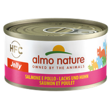 ALMO CAT JELLY SALMONE/POLLO 70g