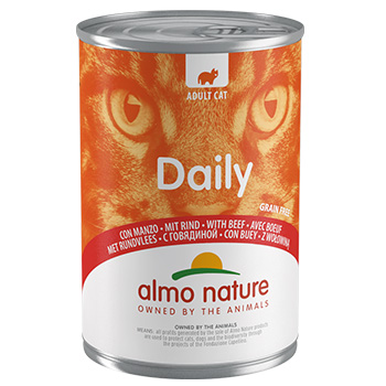 ALMO DAILY CATS 400gr MANZO