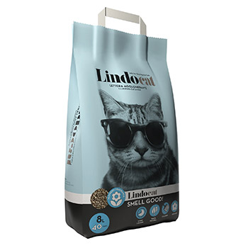LINDO CAT LETTIERA AGGLOMERANTE PROFUMATA SMELL GOOD 8lt
