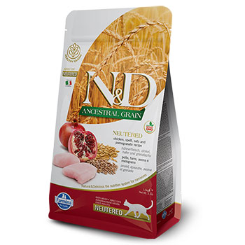 N&D CAT ADULT ANCESTRAL NEUTERED POLLO e MELOGRANO 5Kg