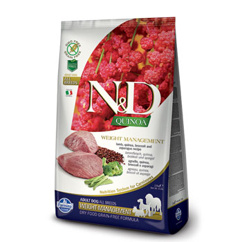 N&D ADULT WEIGHT AGNELLO/QUINOA 2,5Kg