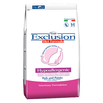 EXCLUSION DIET CAT HYPOALLERGENIC MAIALE/PATATE 2Kg