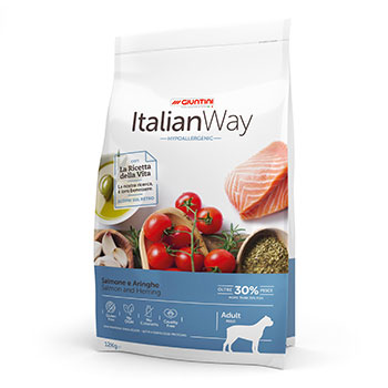 ITALIAN WAY DOG ADULT MAXI HYPOALLERGENIC SALMONE/ARINGHE 12Kg OFF