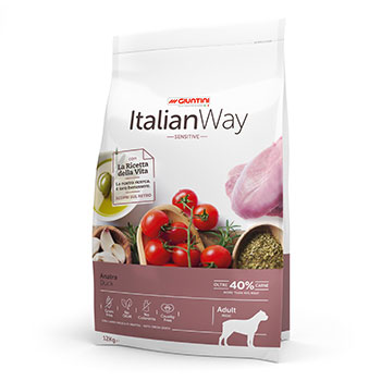 ITALIAN WAY DOG ADULT MAXI SENSITIVE ANATRA 12Kg OFF.
