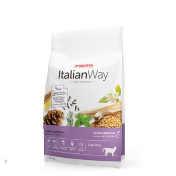 ITALIAN WAY LETTIERA NATURALE VEGETALE SOFT & NATURAL 2,5Kg
