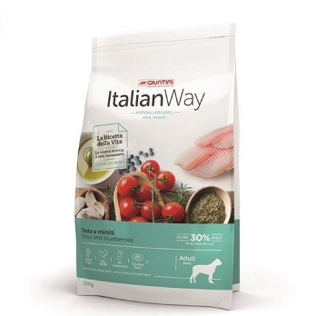 ITALIAN WAY DOG ADULT MEDIUM IDEAL WEIGHT TROTA E MIRTILLI 3Kg OFF.