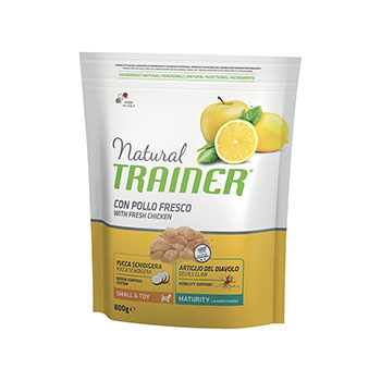 TRAINER NATURAL DOG SMALL & TOY MATURITY POLLO 800g