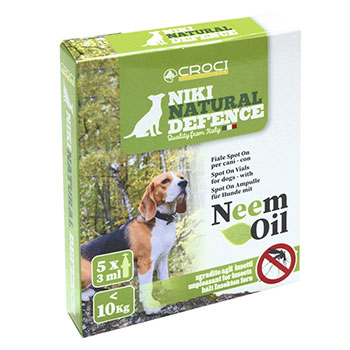 CROCI NIKI NATURAL DEFENCE SPOT-ON CAN E >10Kg NEEM 5 PIP