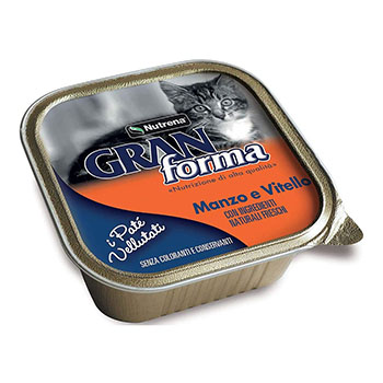 GRAN FORMA CAT PATE' MANZO/VITELLO 100g