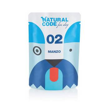 NATURAL CODE DOG CODE MANZO BUSTA 100gr