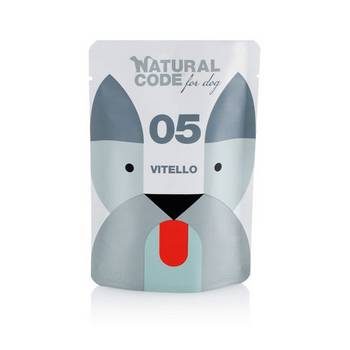 NATURAL CODE DOG VITELLO BUSTA 100gr