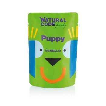 NATURAL CODE DOG PUPPY AGNELLO BUSTA 100gr