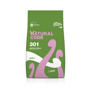 NATURAL CODE CAT ADULT CON ANATRA E POLLO 1,5kg