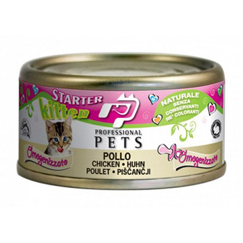 PROFESSIONAL PETS CAT NATURALE KITTEN POLLO 70g