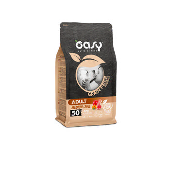 OASY DOG GRAIN FREE ADULT MEDIUM E LARGE CON AGNELLO 12kg