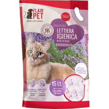 FLAIR PET LETTIERA SILICIO LAVANDA 15lt