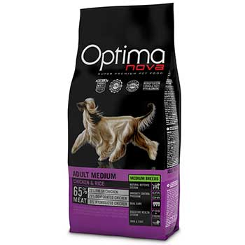 OPTIMA DOG ADULT MEDIO POLLO e RISO 12Kg