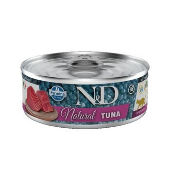 N&D CAT NATURAL TONNO LATTINA 80g