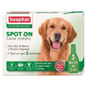 BEAPHAR SPOT ON CANE MEDIUM 3 PIPETTE