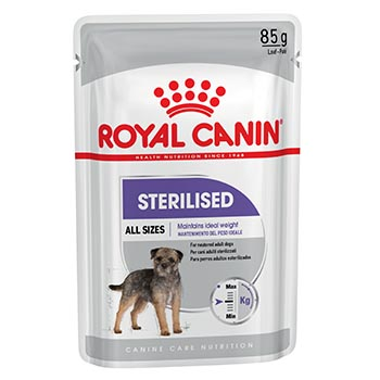 ROYAL CANINE DOG STERILIZED ALL SIZES BUSTA 12X85g
