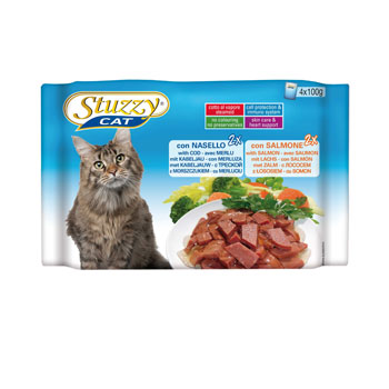 MULTIPACK STUZZY CAT BUSTE  NASELLO/SALMONE 4X100g